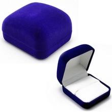 1Pc Vintage Wedding Ring Display Box Pendant Jewelry Holder Fashion Velvet Storage Box  Organizer Women Display Travel Case