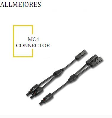 ALLMEJORES 1Pair of Male Female MC4 Connector Y Type Solar