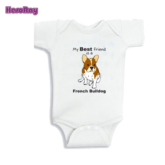 7bb78fb11 My Big sister/brother is a French Bulldog baby personal sleepsuit baby  White Onesie for 0-12M Newborn baby outfit Girl/Boy gift