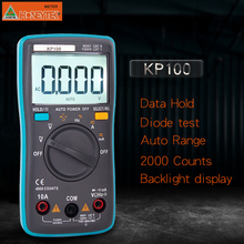 Kuaiqu 100 Portable Autoranging Digital Multimeter 4000 Counts Backlight AC/DC Ammeter Voltmeter Ohm Portable voltage Meter