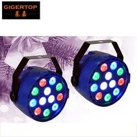 Оптовая продажа 100x Disco Wash лампы 12x1 Вт rgbw мини светодиодный свет равенства 12 Вт Мощность встроенный вентилятор охлаждения DMX 8 Каналы свет эта...