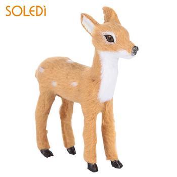 Mini simulação elk deer pelúcia plástico decoração da casa simulado natal rena ano novo natal elk boneca decoração de natal