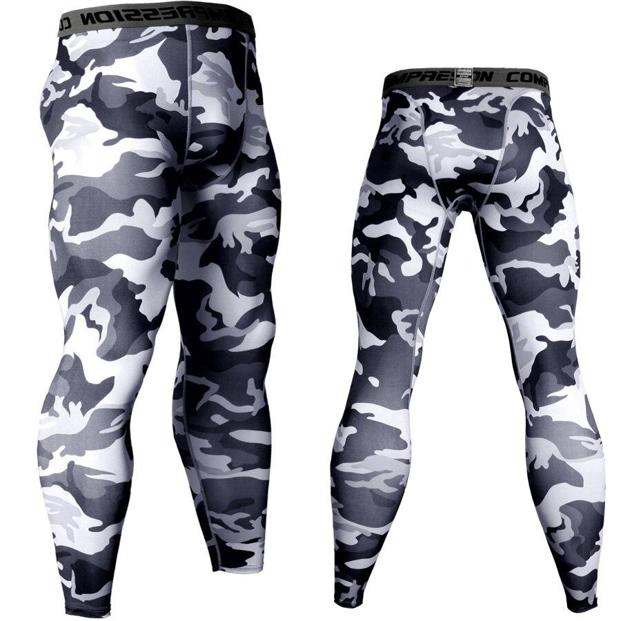 2018 Jogger Hosen Männer Compression Hosen Camouflage Trainingshose Quick Dry Lange Hosen Leggings Fitness Strumpfhosen Mma Mens Joggers 100% Original