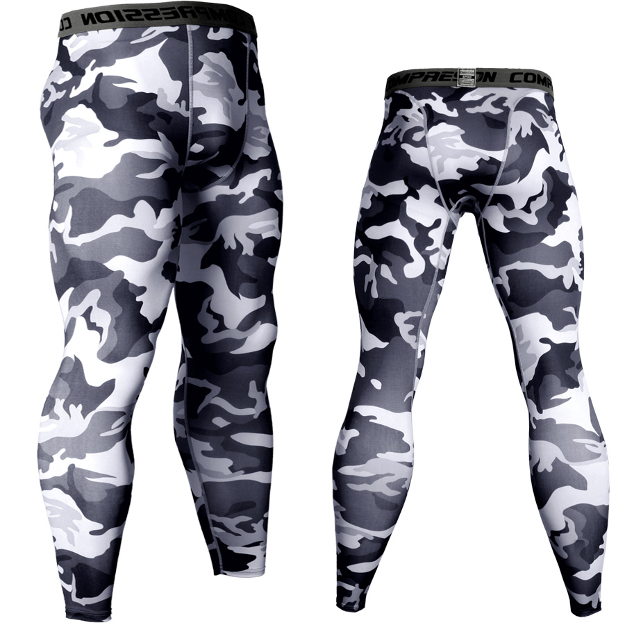 2018 Jogger Pants Men Compression Pants Camouflage Sweat Pants Quick Dry Long Trousers Leggings Fitness Tights MMA Mens Joggers