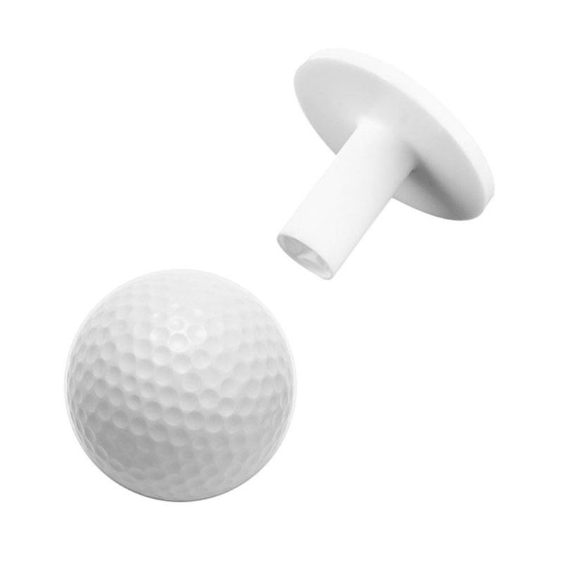Durable Rubber Golf Tees Holder For Golf Driving Range Tee Practice Tool White