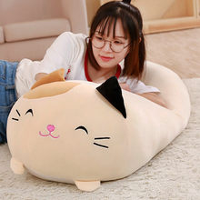 Soft Animal Cartoon Pillow Cushion Cute Fat Dog Cat Penguin Pig Frog Plush Toy Stuffed Lovely kids Birthyday Gift(China)