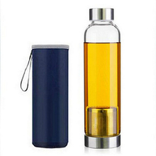 Water Bottle Glass Bottles Tea Travel 550ML My Sport Portable Real Borosilicate With Handle Waterfles Met Filter garrafa