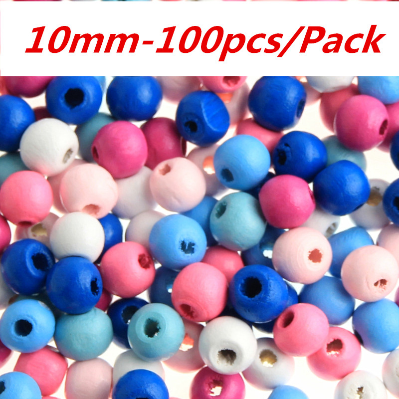 Mixed Candy colors Wooden Square Beads pacifier clip Jewelry Accessories