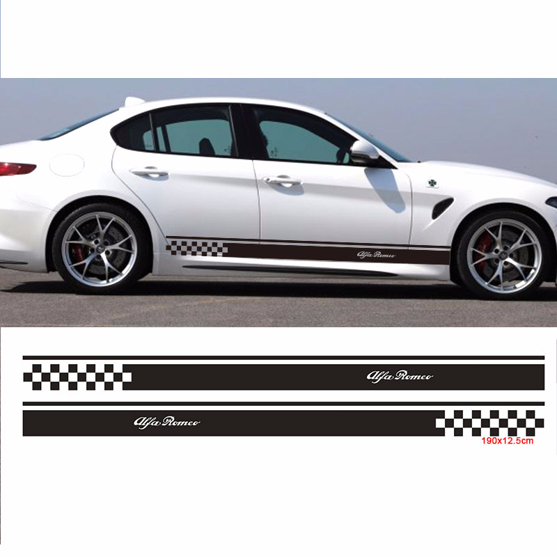 2pcs Stickers Decal For Alfa Romeo 147 156 159 166