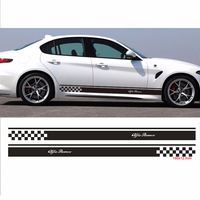 2pcs Stickers Decal for Alfa Romeo 147 156 159 166 Giulietta Stelvio Gloria Stripe body kit Door Handle Guard Sill