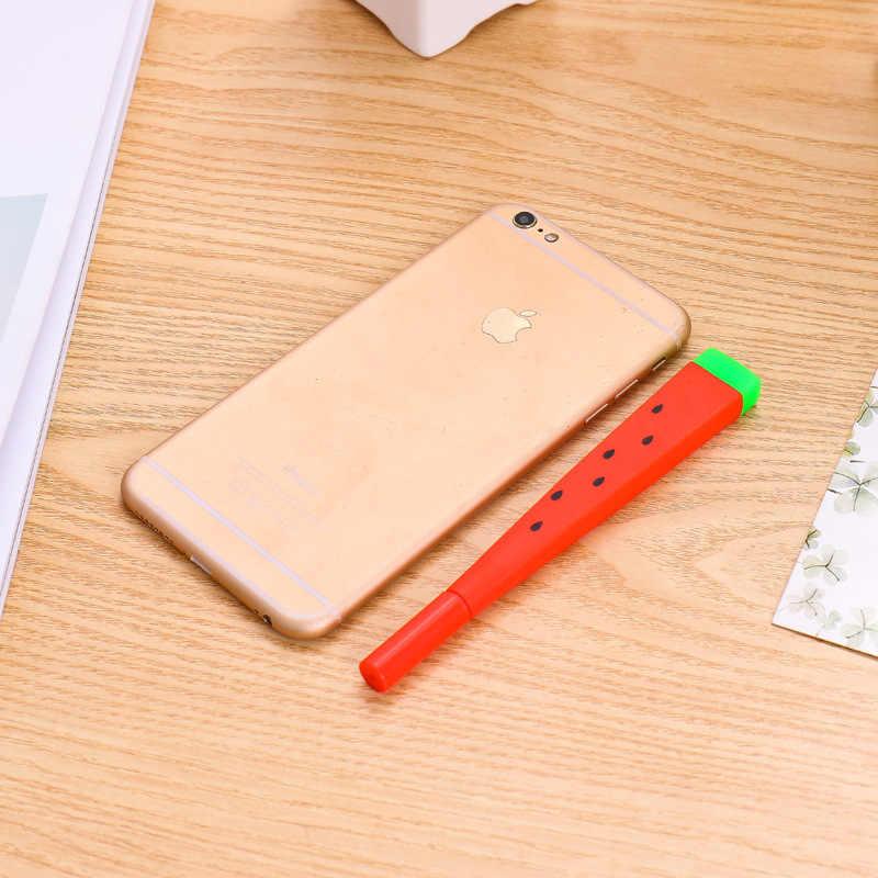 1 Pcs Nette Kawaii wassermelone Gel Stift Schreiben Unterzeichnung Stift Schule Bürobedarf Student Schreibwaren Lohnende 0,38mm