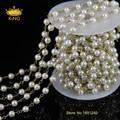 5 м оптовая продажа роскошные имитация-жемчужные стекло перл цепи горный хрусталь цепи ожерелье бусины работы ювелирных для женщин JD089