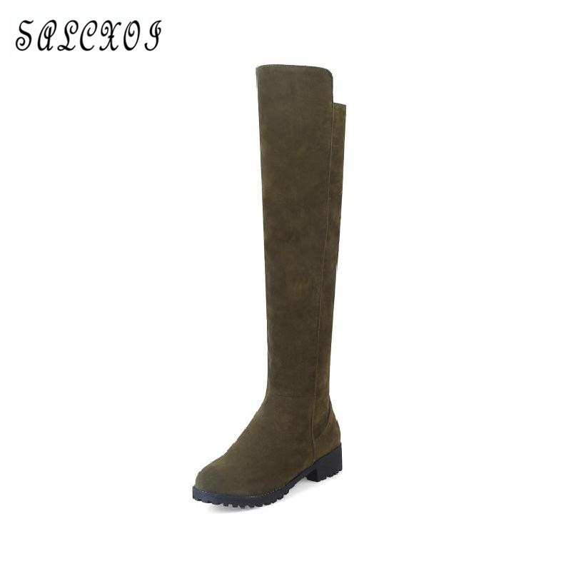 winter boots women over the knee boots red 2017 equestrian boot thigh high suede warm boots plus size autumn ladies shoes &Z8-2 new winter women over the knee thigh high boots sweet black brown ladies shoes a181h plus big size 45 10 11 warm fur