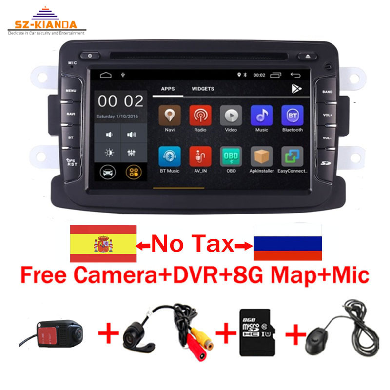 2din Android 9.0 Car DVD Player For Renault Duster Dacia Sandero Capture Lada Xray 2 Logan 2 RAM 3G WIFI GPS Navigation Radio