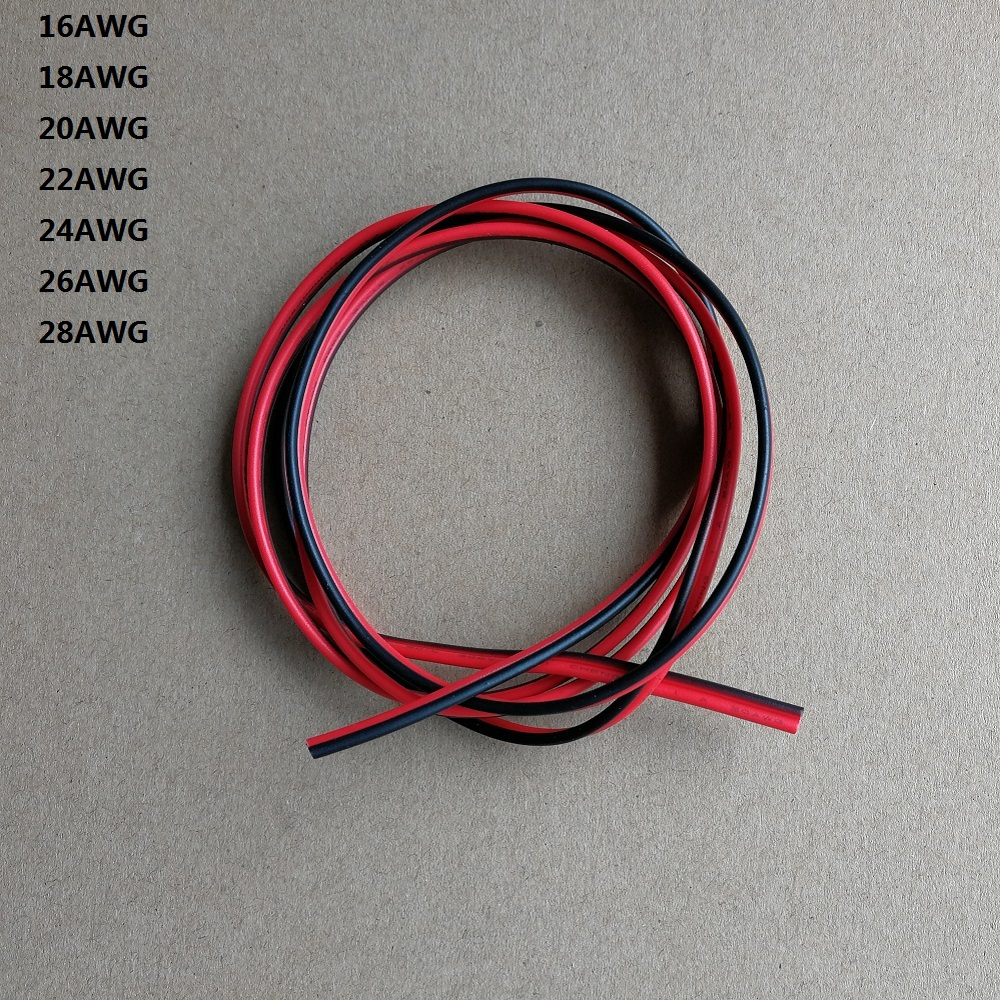 24AWG UL2468 PVC Black Red Wire Insulated Environmental Electronic ...