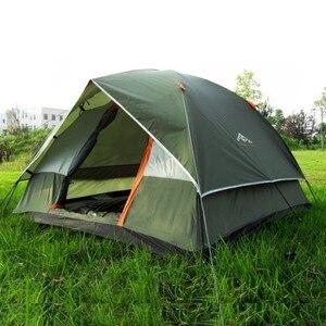 Водонепроницаемая походная рыболовная палатка, двухслойная туристическая палатка, 4 сезона, анти-УФ Пляжная палатка для семьи 3-4 человек