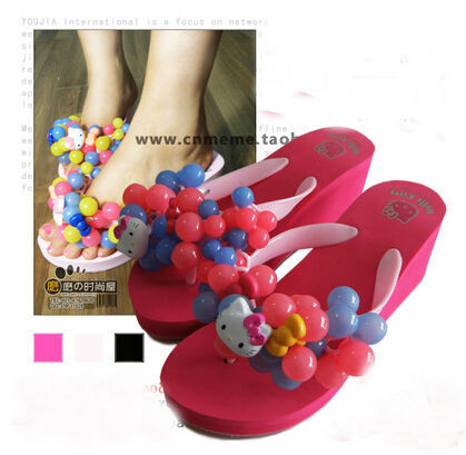 Platform high heels grape slippers 2013 platform sandals beach bubble flip flops - jack cc's store