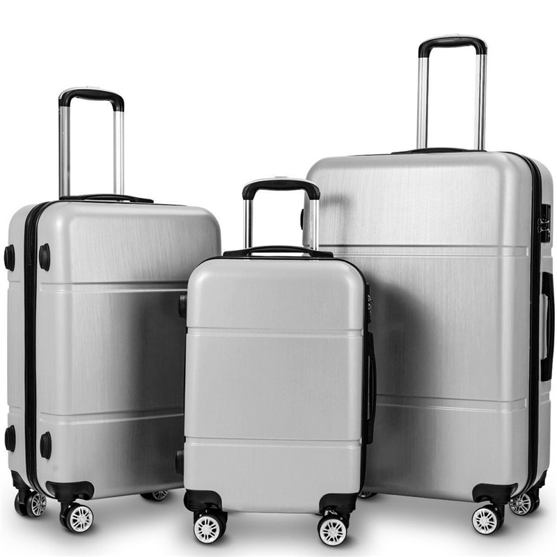 Luggage-Set Trolley Suitcase Wheels-Low-Key 3pcs Lock With And Simple-Style 20-24-28-W/tsa