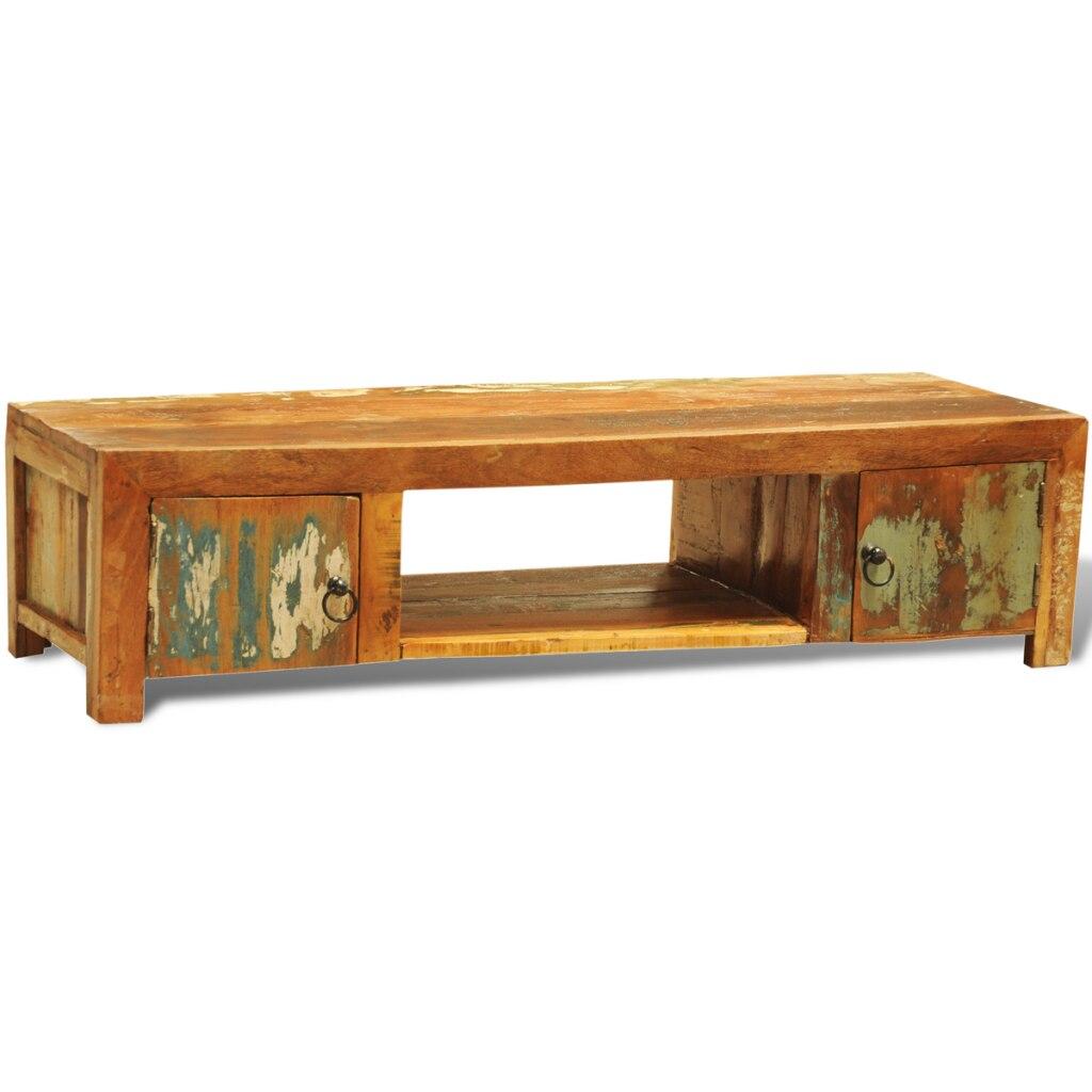 estilo antiguo de la vendimia de dos puertas mueble tv de madera reciclada para el