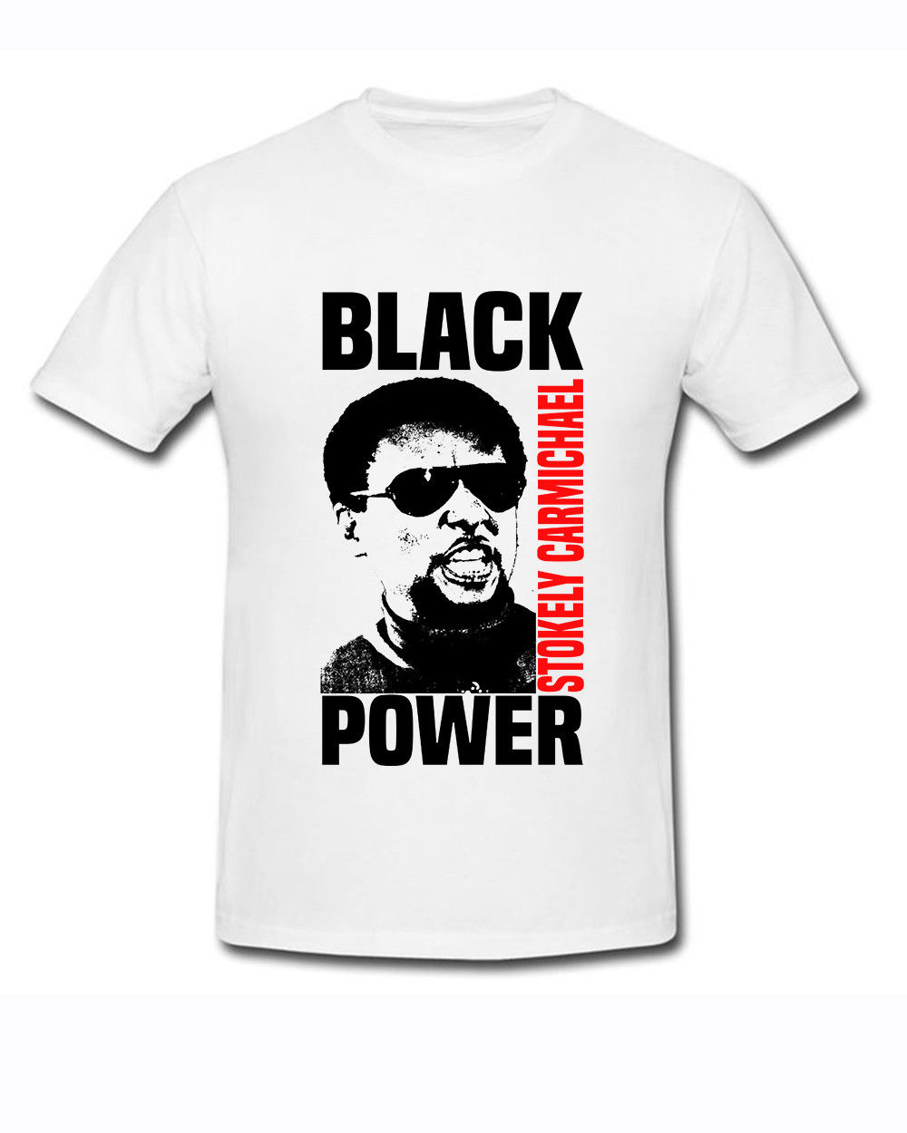 Funny Shirts Crew Neck Short-Sleeve Stokely Carmichael-Black Power Gildan white Men T-shirt size S-2XL