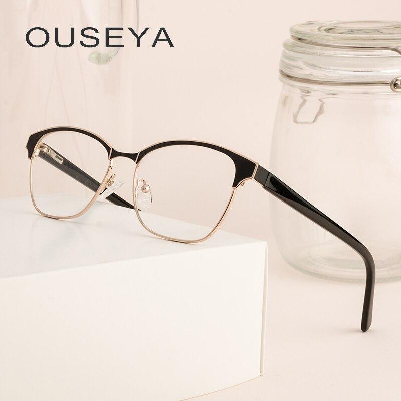 Aggressiv Legierung Männer Brille Rahmen Business Vintage Optische Gläser Klare Linse Grade Transparent Kein Grad Brillen # Ml0038