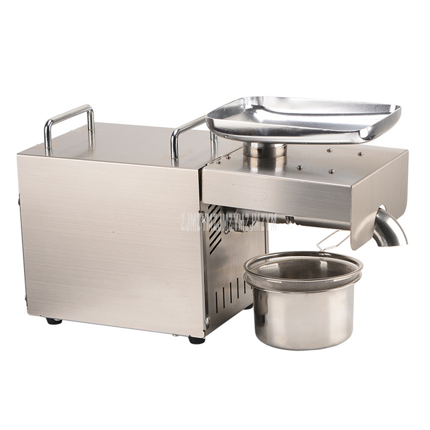 1500W Stainless Steel Full Automatic Electric Cold Oil Presser Household Peanut/Olive/Rapeseed Oil Press Machine Maker 220V/110V1500W Stainless Steel Full Automatic Electric Cold Oil Presser Household Peanut/Olive/Rapeseed Oil Press Machine Maker 220V/110V