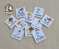 96 Custom Logo Labels Children S Clothing Tags Name Tags White Organic Cotton Labels Mermaid Labels