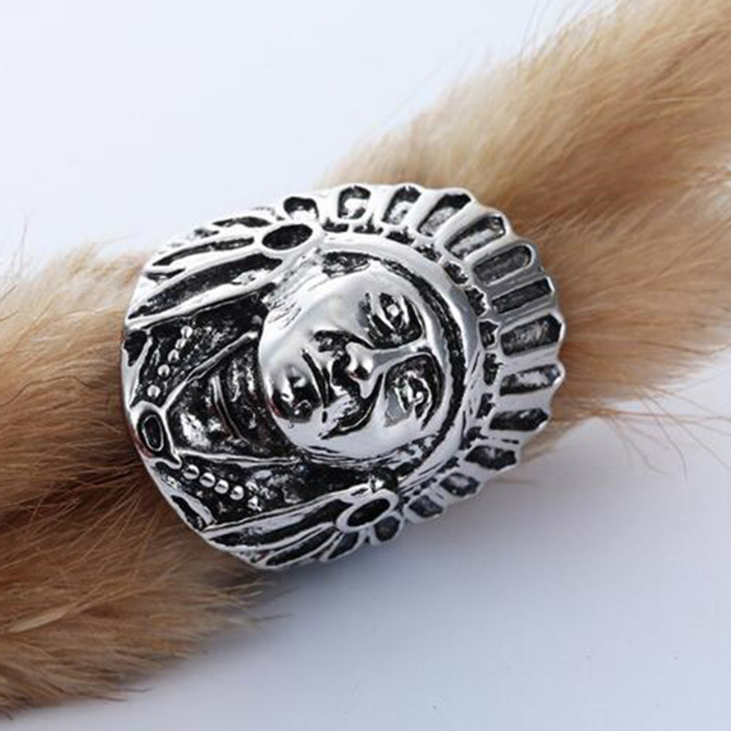 silver fashion p rings wide size open face hk plated women