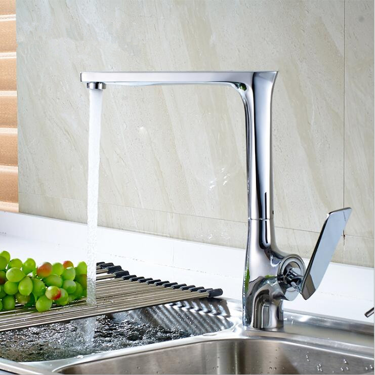 (5 Styles)New Arrivel Black/White Solid Brass Kitchen Mixer Cold & Hot Tap Single Hole Water Tap Vessel Sink Faucet TP1122 new arrival tall bathroom sink faucet mixer cold and hot kitchen tap single hole water tap kitchen faucet torneira cozinha