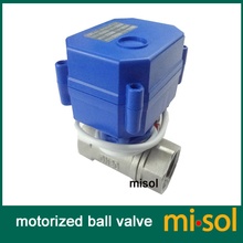 "misol / 1pcs of Motorized valve G3/4"" DN20 (reduce port) 2 way 12VDC CR01, stainless steel, electrical valve"