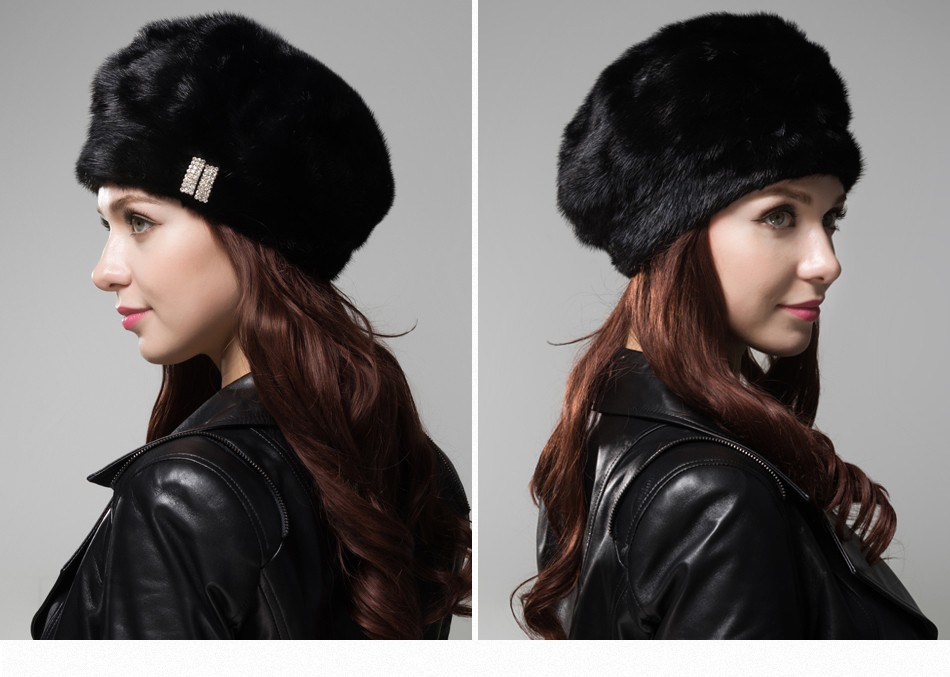 mink fur hat female winter PCM027 (18)