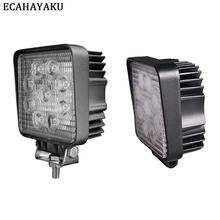 ECAHAYAKU 1Pcs 4 27W Square led work light bar ce rohs lamp SPOT Beam for 4x4 offroad tractor boat Trailer ATV SUV CAR