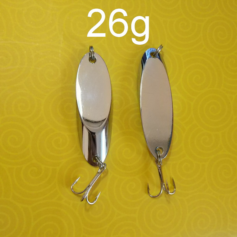 Peach-Bait Spoon Wedge Fishing-Lure Casting Kastmaster-Style Metal 2pieces Pesca Solid