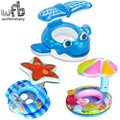 104*84cm Max Capability 20KG Children kids Swim Ring Baby Sitting Circle Life Floating cartoon blue whale summer