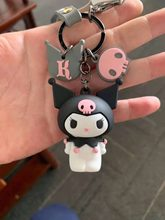 2019 3D Sanrio Series hello k My Melody Pudding Cinnamorol PVC Keychains Rope Strap Charm anime Figure baby Toys squishy(China)