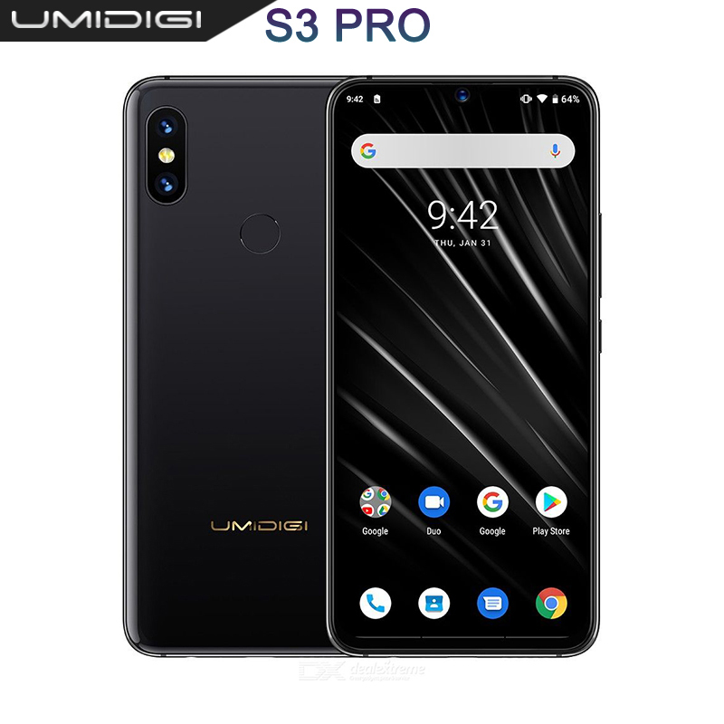 UMIDIGI S3 PRO Android 9.0 48MP+12MP+20MP 5150mAh 128GB 6GB 6.3″ NFC Global Version Smartphone unlocked octa core mobile phone