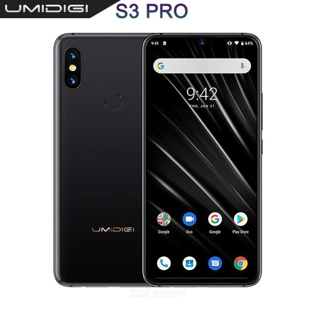 "UMIDIGI S3 PRO Android 9.0 48MP+12MP+20MP 5150mAh 128GB 6GB 6.3"" NFC Global Version Smartphone unlocked octa core mobile phone"