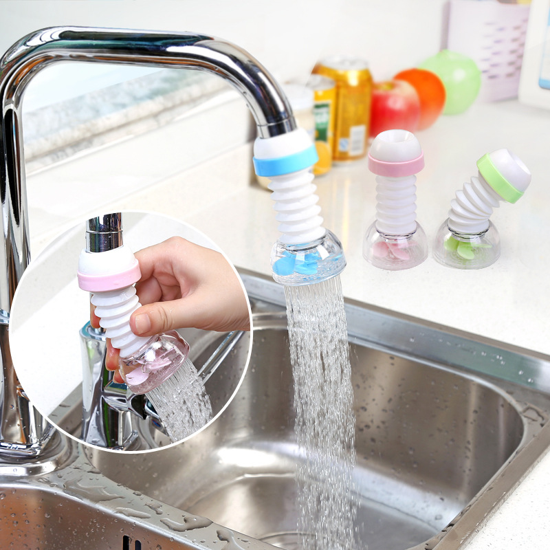 Yooap Faucet Extender Stretchable, Spray, Splash-proof, Water-saving Kids Home Kitchen Bathroom Accessories Baby