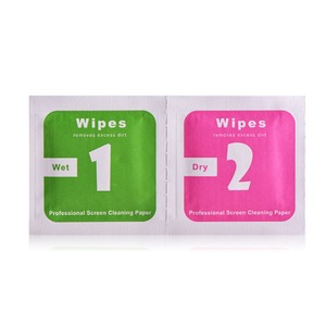 Image 5 - 50pcs Tempered Glass Camera Lens Mobile Phone LCD Screen Dust Removal Tool Dry Wet Alcohol Cleaning Wipes Paper Cloth Cleaner