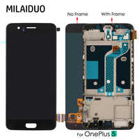 TFT/AMOLED LCD Per Oneplus 5 Display Per Oneplus A5000 Touch Screen Digitizer Assembly Sostituzione 5.5 ''Black No /con Telaio