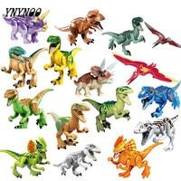 YNYNOO 16 Pcs/lot Dinosaures de Jurassical Figures Du Monde Du Film blocs de construction Maquettes et Modèles Jouets Cadeau Meilleur cadeaux pour Enfants