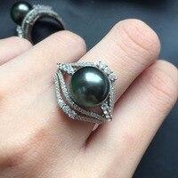 Fine Jewelry реальные 925 Steling Серебряные s925 100% натуральный жемчуг Таити драгоценный камень женский кулон колье Рождественский подарок