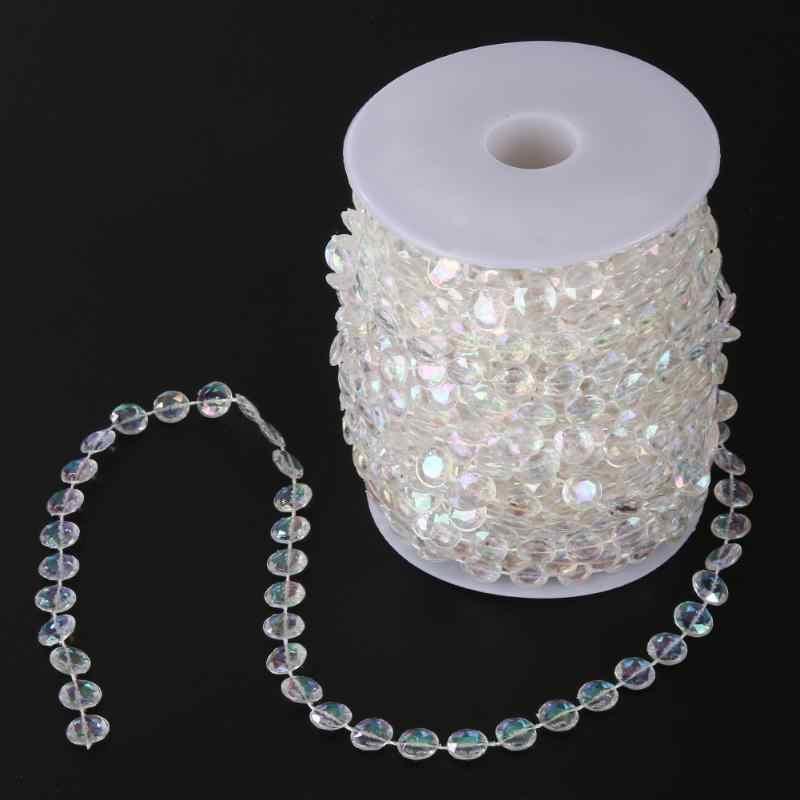 99FT гирлянда акриловый, со стразами кристалл занавес Акриловый Кристалл бисера занавес свадьба DIY вечерние Декор кристалл занавес свадьба
