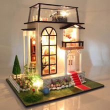 1/24 Scale Dollhouse Miniature DIY Prince House Kit Room Cottage with Furniture for Great Artwork Gift(China)