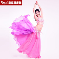 New Beautiful Belly dance Suit Bellydance Dress set Bellydancing Clothes Performance Costume dual color:BRA&Belt&Skirt