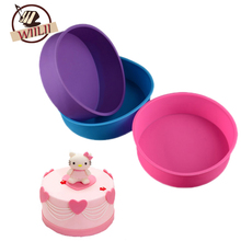 1PCS Silicone Circular Shape Baking Cake Mold For Non-Stick Chocolate Making Mould Bakeware Cupcake Kitchen Accessories DIY Tool