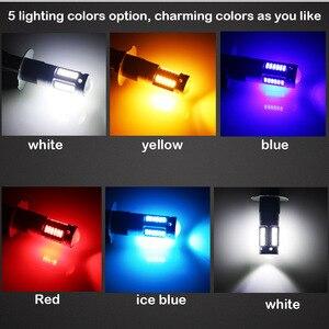 Image 5 - Gtinthebox lâmpada para farol automotivo, h27, led, 880 ou 881, para substituição, para farol de milha, branco, vermelho e azul gelo azul amarelo amarelo