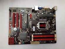 Бесплатная доставка в исходном материнская плата для Biostar H55A + LGA 1156 DDR3 RAM 16 Г Плат H55 Рабочего Материнская Плата