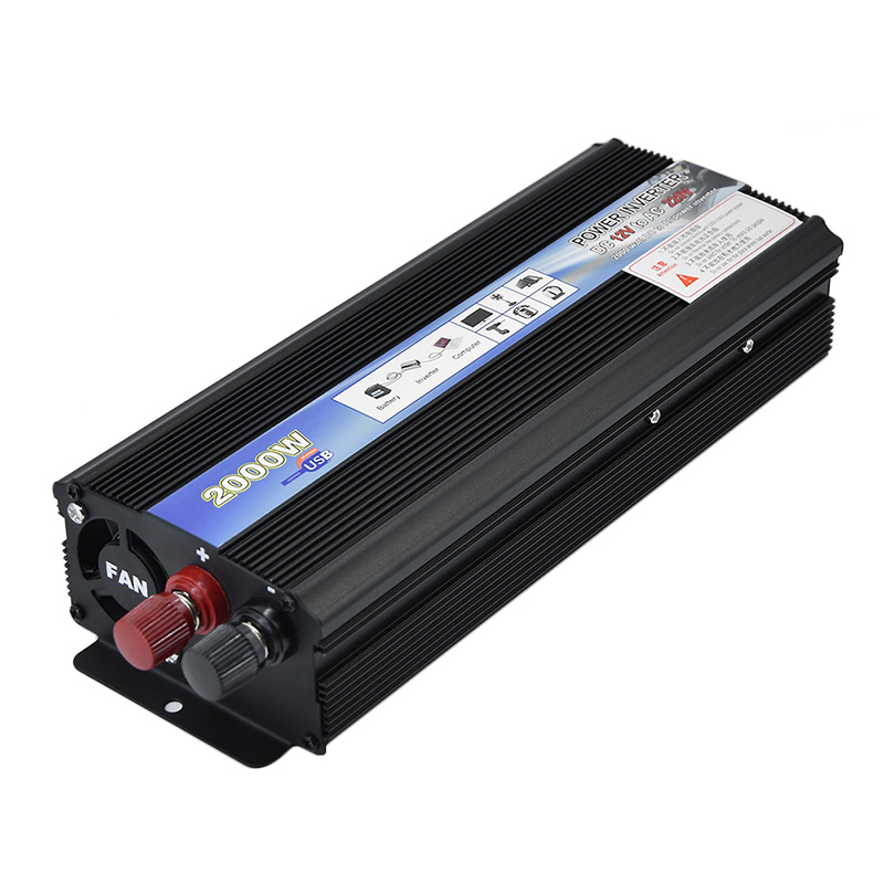 Top Value 2000W Car Power Inverter Voltage DC 12V to AC 220V Power Car Converter Car Travel Inverter with USB Port