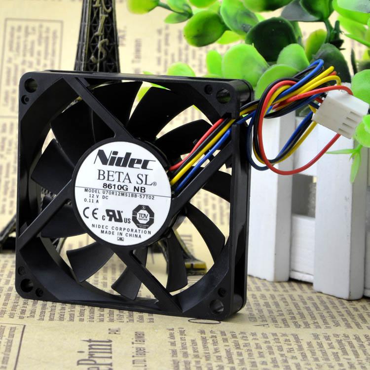 Nidec 7015 7 CM U70R12MS1BB-57T02 12 V 0.11A 4 fils silence ventilateur 70X70X15 MM
